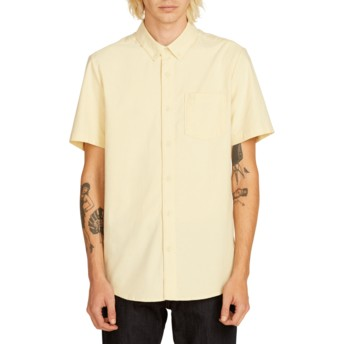 Volcom Lime Everett Oxford Kurzärmliges Shirt gelb