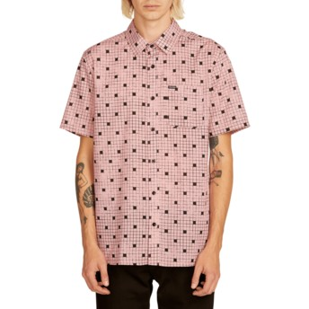 Volcom Light Mauve Crossed Up Kurzärmliges Shirt pink