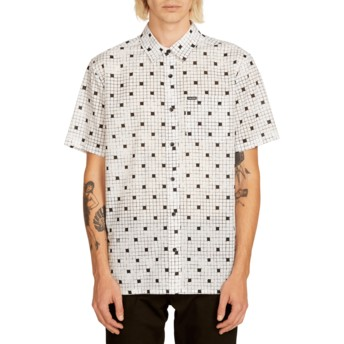 Volcom White Crossed Up Kurzärmliges Shirt weiß