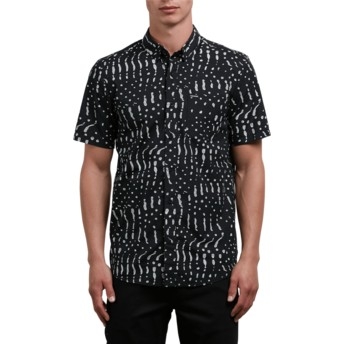 Volcom Black Drag Dot Kurzärmliges Shirt schwarz