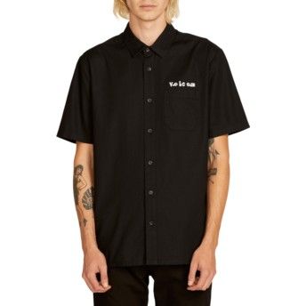 Volcom Black Crowd Control Kurzärmliges Shirt schwarz