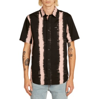 Volcom Light Mauve Fade This Kurzärmliges Shirt schwarz und pink