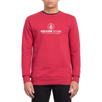 Volcom Burgundy Heather General Stone Sweatshirt rot