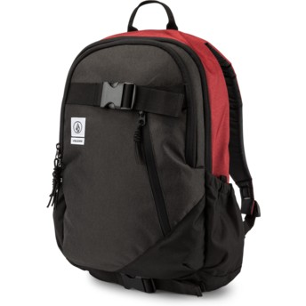 Volcom Burgundy Substrate Backpack schwarz und rot