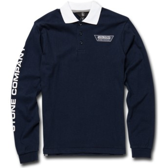 Volcom Kinder Navy Belmont Longsleeve Poloshirt marineblau