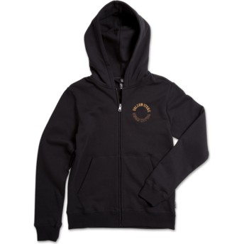 Volcom Kinder Black Out Supply Stone Zip Through Hoodie Kapuzenpullover Sweatshirt schwarz