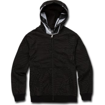 Volcom Kinder Black Cool Stone Full schwarz Zip Through Hoodie Kapuzenpullover Sweatshirt