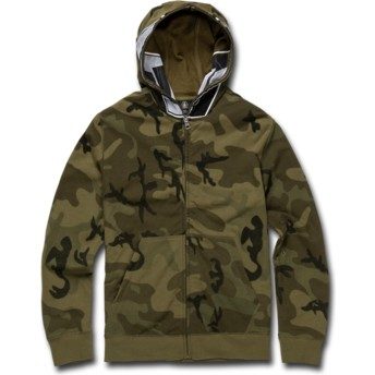 Volcom Kinder Camouflage Cool Stone Full Zip Through Hoodie Kapuzenpullover Sweatshirt camo
