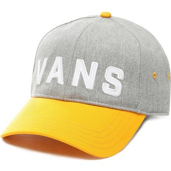 Vans Curved Brim Dugout Adjustable Cap grau mit Yellow Visor
