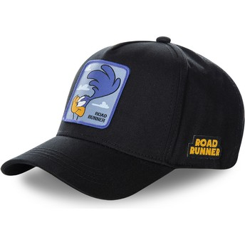 Capslab Curved Brim Roadrunner ROA3 Looney Tunes Snapback Cap schwarz