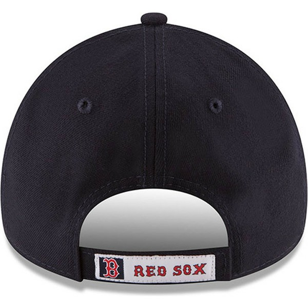 new-era-curved-brim-9forty-the-league-boston-red-sox-mlb-adjustable-cap-marineblau