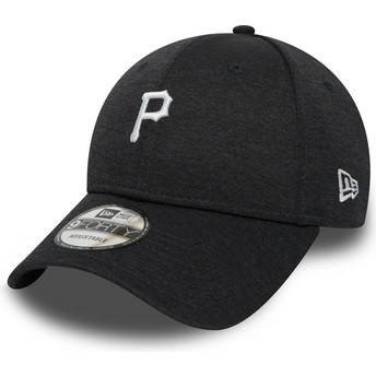 New Era Curved Brim 9FORTY Shadow Tech Pittsburgh Pirates MLB Adjustable Cap schwarz
