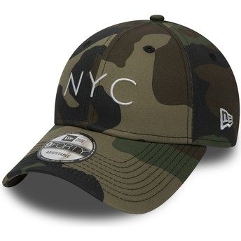 New Era Curved Brim 9FORTY Essential NYC Adjustable Cap camo
