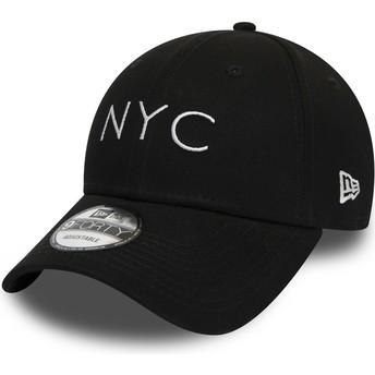 New Era Curved Brim 9FORTY Essential NYC Adjustable Cap schwarz
