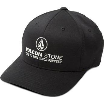 Volcom Curved Brim Super Clean Xfit Fitted Cap schwarz