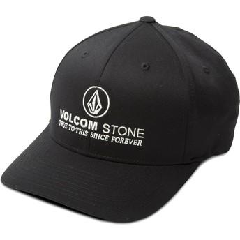 Volcom Curved Brim Super Clean Xfit Fitted Cap schwarz