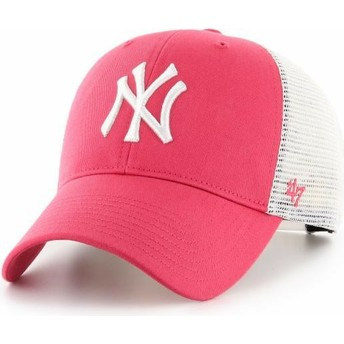 47 Brand MVP Flagship New York Yankees MLB Trucker Cap pink
