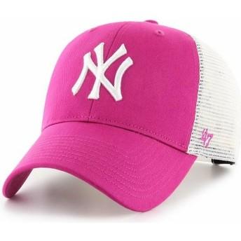47 Brand MVP Flagship New York Yankees MLB Trucker Cap Dunkelrosa