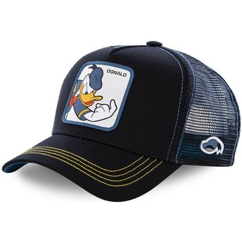 Capslab Donald Duck DON2 Disney Trucker Cap schwarz