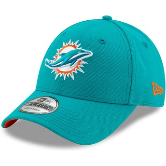New Era Curved Brim 9FORTY The League Miami Dolphins NFL Adjustable Cap blau