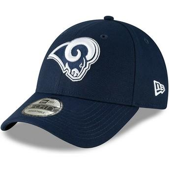 New Era Curved Brim 9FORTY The League Los Angeles Rams NFL Adjustable Cap blau