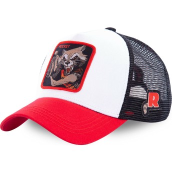 Capslab Rocket Raccoon ROC2 Marvel Comics Trucker Cap weiß