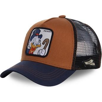 Capslab Scrooge McDuck SCR1 Disney Trucker Cap braun und marineblau