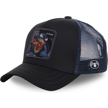 Capslab Venom VEN1 Marvel Comics Trucker Cap schwarz