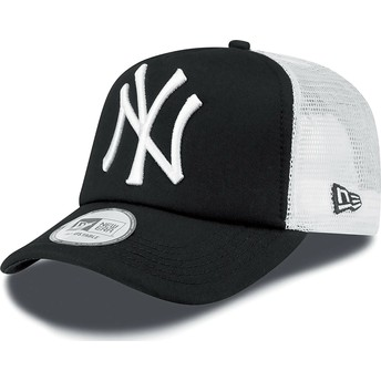 New Era Clean A Frame New York Yankees MLB Trucker Cap schwarz