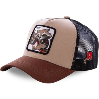 Capslab Rocket Raccoon ROC1 Marvel Comics Trucker Cap braun