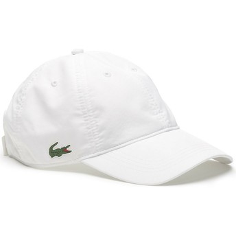 Lacoste Curved Brim Basic Dry Fit Adjustable Cap weiß