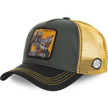 Capslab Boba Fett BOB Star Wars Trucker Cap grün und gelb
