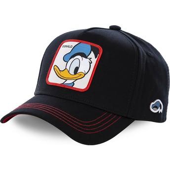 Capslab Curved Brim Donald Duck DUC3 Disney Snapback Cap schwarz