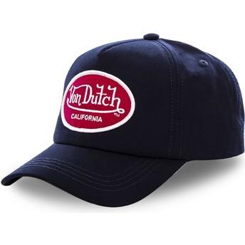 Von Dutch Curved Brim MAR Snapback Cap marineblau