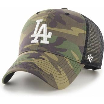 47 Brand Weißes Logo MVP Branson 2 Los Angeles Dodgers MLB Trucker Cap camo