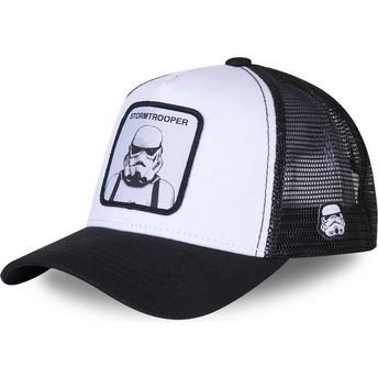 Capslab Stormtrooper BC Star Wars Trucker Cap weiß und schwarz