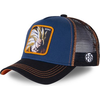 Capslab Son Goku Super Saiyan 3 SAN1 Dragon Ball Trucker Cap marineblau