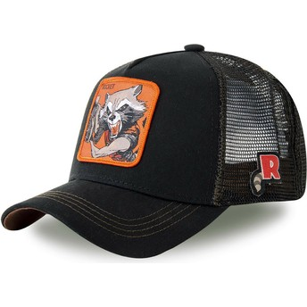 Capslab Rocket Raccoon ROC4 Marvel Comics Trucker Cap schwarz