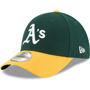 New Era Curved Brim 9FORTY The League Oakland Athletics MLB Adjustable Cap grün und gelb