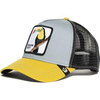 Goorin Bros. Toucan Iggy Narnar Trucker Cap grau und gelb