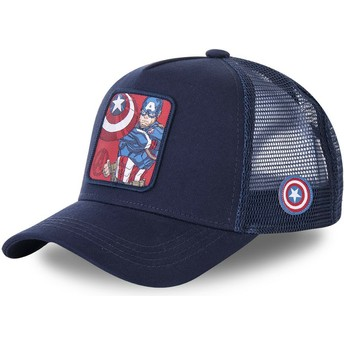 Capslab Captain America CPT1 Marvel Comics Trucker Cap marineblau