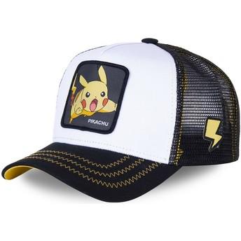 Capslab Pikachu PIK5 Pokémon Trucker Cap weiß und schwarz