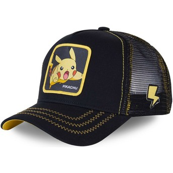 Capslab Pikachu PIK7 Pokémon Trucker Cap schwarz