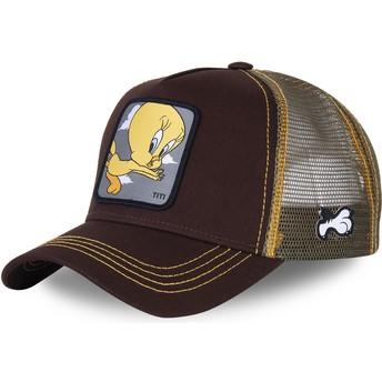 Capslab Tweety TIT1 Looney Tunes Trucker Cap braun