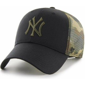 47 Brand MVP Back Switch New York Yankees MLB Black and Camouflage Trucker Hat