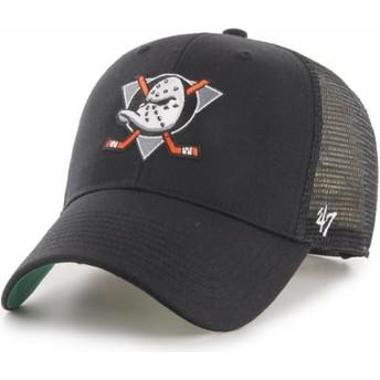 47 Brand MVP Branson Anaheim Ducks NHL Black Trucker Hat