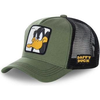 Capslab Daffy Duck DAF2 Looney Tunes Trucker Cap grün