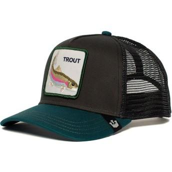 Goorin Bros. Rainbow Trout Black and Green Trucker Hat