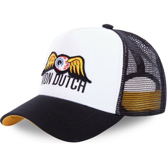 Von Dutch EYEPAT1 White and Black Trucker Hat