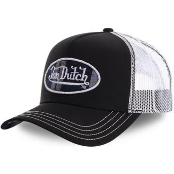 Von Dutch CARD1 Black and White Trucker Hat